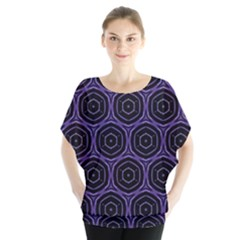 Background Colour Purple Circle Blouse