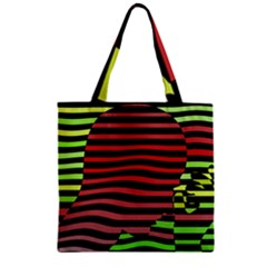 Face Palm Think Zipper Grocery Tote Bag by AnjaniArt