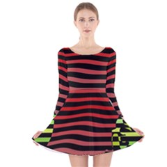 Face Palm Think Long Sleeve Velvet Skater Dress by AnjaniArt