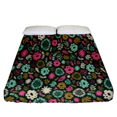 Floral Flower Flowering Rose Fitted Sheet (queen Size) by AnjaniArt