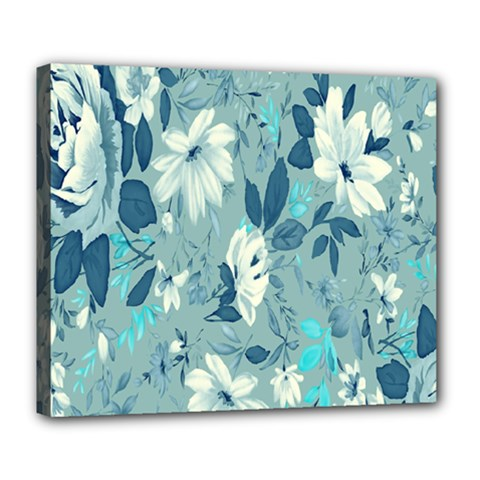 Floral Pattern Wallpaper Deluxe Canvas 24  X 20   by AnjaniArt