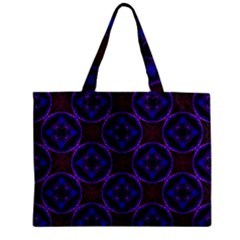 Background Colour Blue Flower Zipper Mini Tote Bag by AnjaniArt