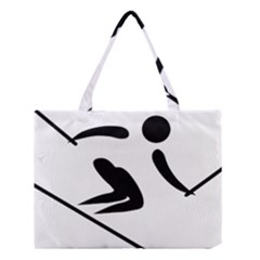 Alpine Skiing Pictogram  Medium Tote Bag by abbeyz71