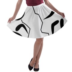 Mountaineering Climbing Pictogram  A Line Skater Skirt by abbeyz71