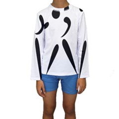 American Football Pictogram  Kids  Long Sleeve Swimwear by abbeyz71