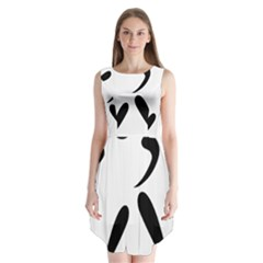 American Football Pictogram  Sleeveless Chiffon Dress