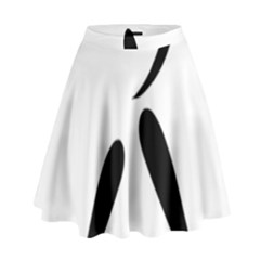 American Football Pictogram  High Waist Skirt by abbeyz71