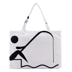 Angling Pictogram Medium Tote Bag by abbeyz71