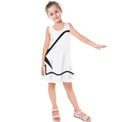 Angling Pictogram Kids  Sleeveless Dress