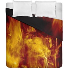 Ablaze Abstract Afire Aflame Blaze Duvet Cover Double Side (california King Size) by Amaryn4rt