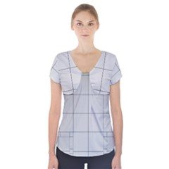 Abstract Architecture Contemporary Short Sleeve Front Detail Top by Amaryn4rt