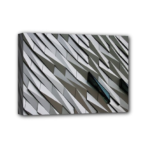 Abstract Background Geometry Block Mini Canvas 7  X 5  by Amaryn4rt