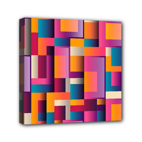 Abstract Background Geometry Blocks Mini Canvas 6  X 6  by Amaryn4rt