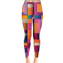 Abstract Background Geometry Blocks Leggings  by Amaryn4rt
