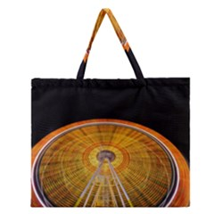 Abstract Blur Bright Circular Zipper Large Tote Bag by Amaryn4rt