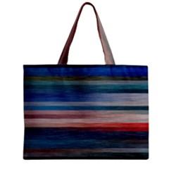 Background Horizontal Lines Zipper Mini Tote Bag by Amaryn4rt