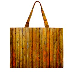 Background Wood Lath Board Fence Zipper Mini Tote Bag by Amaryn4rt