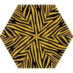 Skin4 Black Marble & Yellow Marble (r) Mini Folding Umbrella by trendistuff