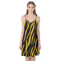 Skin3 Black Marble & Yellow Marble Camis Nightgown