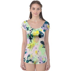 Colorful Paint Boyleg Leotard  by Brittlevirginclothing