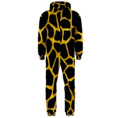 SKN1 BK-YL MARBLE (R) Hooded Jumpsuit (Men)  by trendistuff