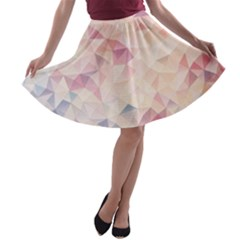Pastel Diamond A Line Skater Skirt by Brittlevirginclothing
