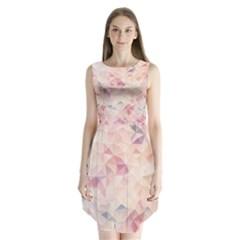 Pastel Diamond Sleeveless Chiffon Dress