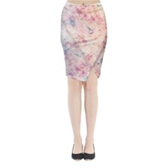Pastel Diamond Midi Wrap Pencil Skirt by Brittlevirginclothing