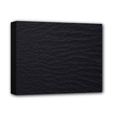 Black Pattern Sand Surface Texture Deluxe Canvas 14  X 11  by Amaryn4rt