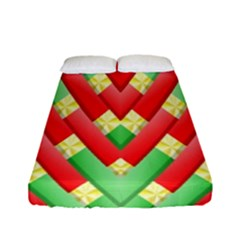 Christmas Geometric 3d Design Fitted Sheet (full/ Double Size)