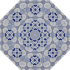 Ceramic Portugal Tiles Wall Folding Umbrellas by Amaryn4rt