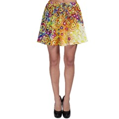 Canvas Acrylic Design Color Skater Skirt
