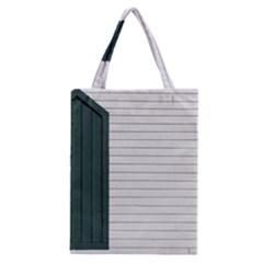 Construction Design Door Exterior Classic Tote Bag