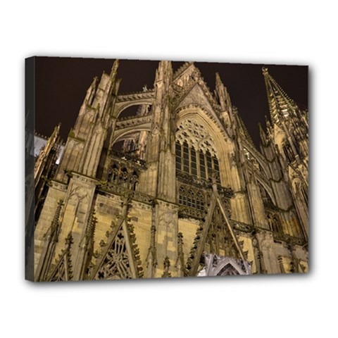 Cologne Church Evening Showplace Canvas 16  X 12  by Amaryn4rt