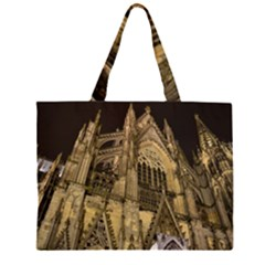 Cologne Church Evening Showplace Zipper Large Tote Bag by Amaryn4rt