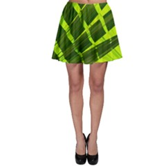 Frond Leaves Tropical Nature Plant Skater Skirt by Amaryn4rt