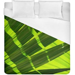 Frond Leaves Tropical Nature Plant Duvet Cover (king Size) by Amaryn4rt