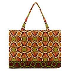 Geometry Shape Retro Trendy Symbol Medium Zipper Tote Bag by Amaryn4rt
