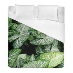 Green Leaves Nature Pattern Plant Duvet Cover (full/ Double Size) by Amaryn4rt