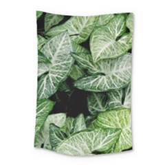 Green Leaves Nature Pattern Plant Small Tapestry