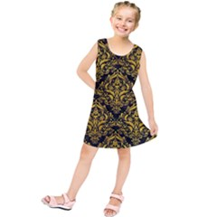 DMS1 BK-YL MARBLE Kids  Tunic Dress by trendistuff