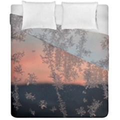 Hardest Frost Winter Cold Frozen Duvet Cover Double Side (california King Size) by Amaryn4rt