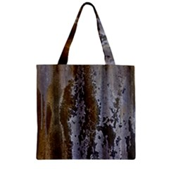 Grunge Rust Old Wall Metal Texture Zipper Grocery Tote Bag by Amaryn4rt