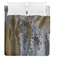Grunge Rust Old Wall Metal Texture Duvet Cover Double Side (queen Size)