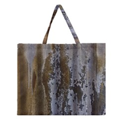 Grunge Rust Old Wall Metal Texture Zipper Large Tote Bag by Amaryn4rt