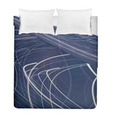 Light Movement Pattern Abstract Duvet Cover Double Side (full/ Double Size)
