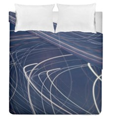 Light Movement Pattern Abstract Duvet Cover Double Side (queen Size) by Amaryn4rt