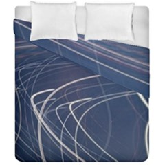 Light Movement Pattern Abstract Duvet Cover Double Side (california King Size) by Amaryn4rt
