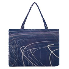Light Movement Pattern Abstract Medium Zipper Tote Bag by Amaryn4rt