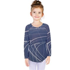 Light Movement Pattern Abstract Kids  Long Sleeve Tee